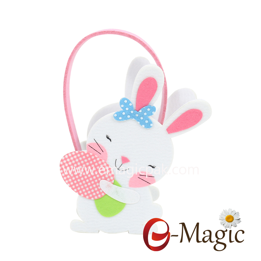 FC-04 cheap rabbit Non-woven fabric easter egg basket