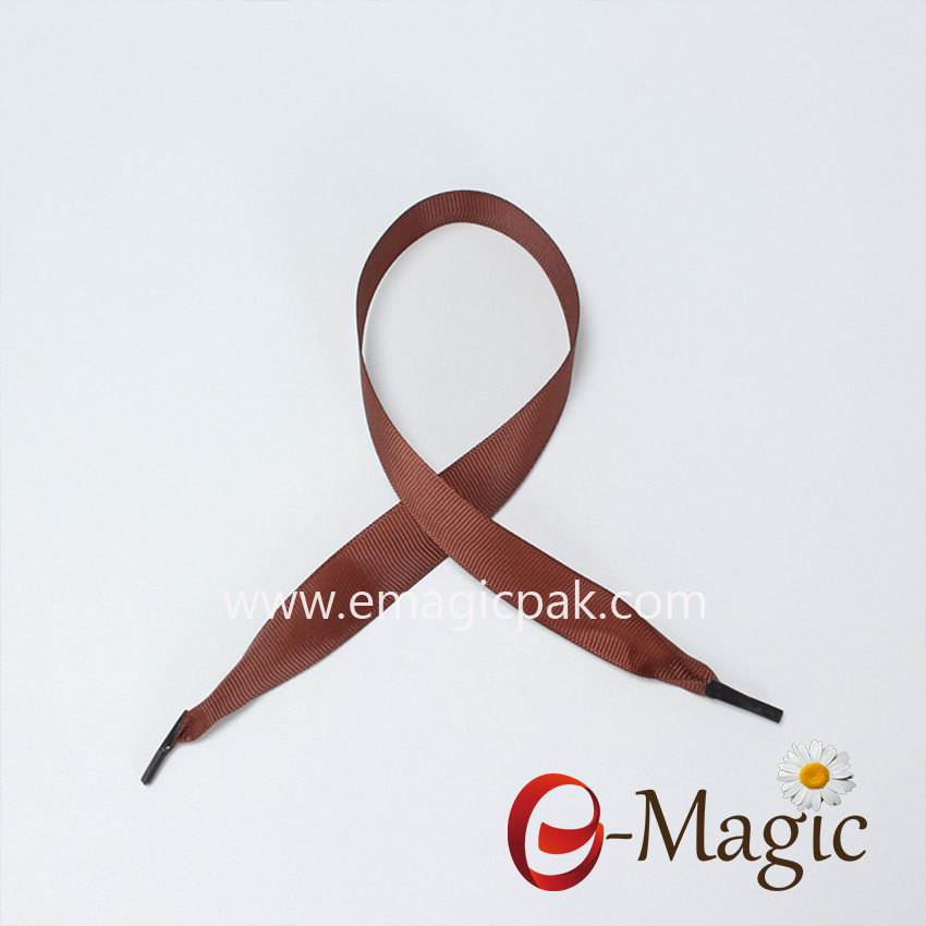 HR-005 Brown grosgrain Ribbon Handle Rope, Paper Bag Polyester grosgrain Ribbon Gift Boxes Handle Rope